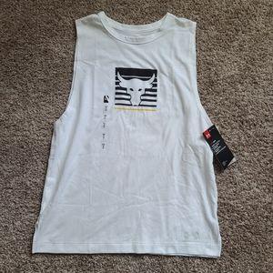 Womens Project Rock Muscle Tank Shirt Small